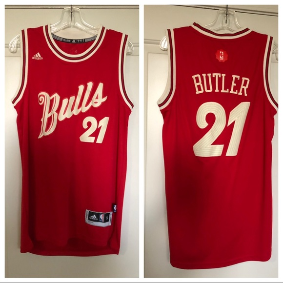3aa78dad4cb adidas Other - NBA Chicago Bulls jimmy butler Christmas jersey S